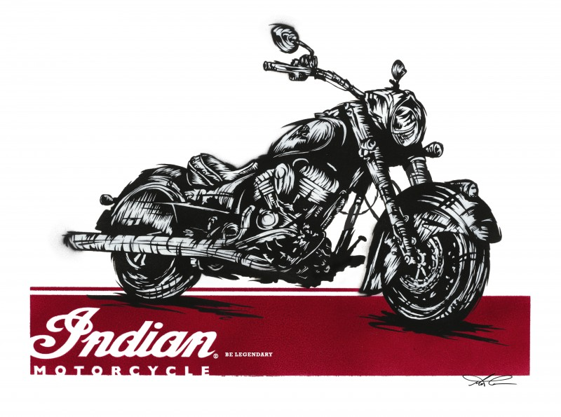 Test ride an Indian – get a limited edition Chief Dark Horse poster