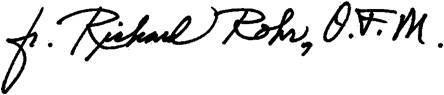 Fr. Richard Rohr, O.F.M. signature
