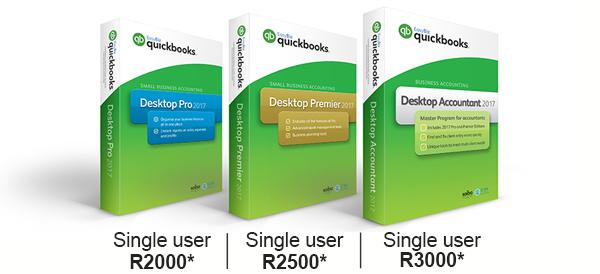 Desktop Pro R2000 - Premier R2500 - Accountant R3000 (all Single User)