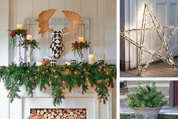 Collage of holiday decor