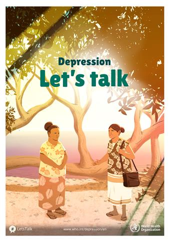 Depression: Let's talk poster from the WHO.
