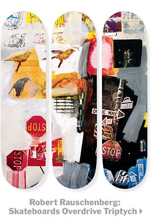 Robert Rauschenberg Sakteboards Overdrive Triptych