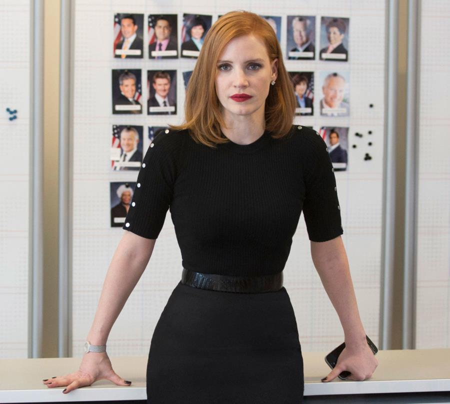 "Jessica Chastain in ""Miss Sloane"""