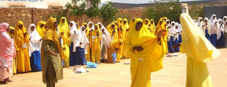 Girls at the Galkayo Center
