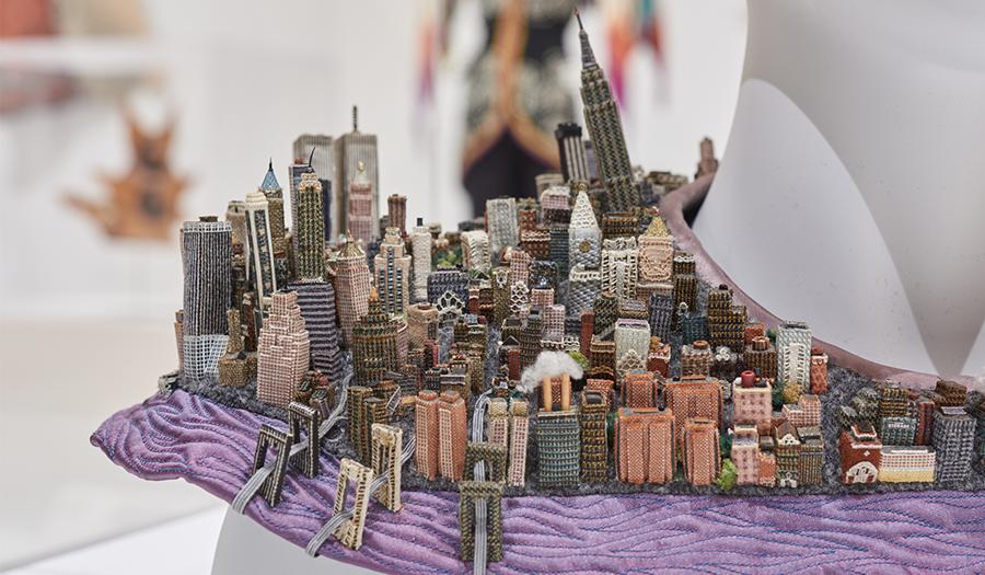 """Detail of """"Manhattan Collar"""" by Joan Steiner"""